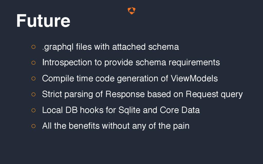 ○ .graphql files with attached schema ○ Introsp...
