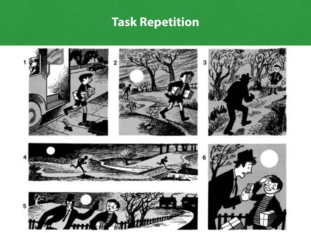 27 Thechase 1 2 3 4 6 5 Task Repetition