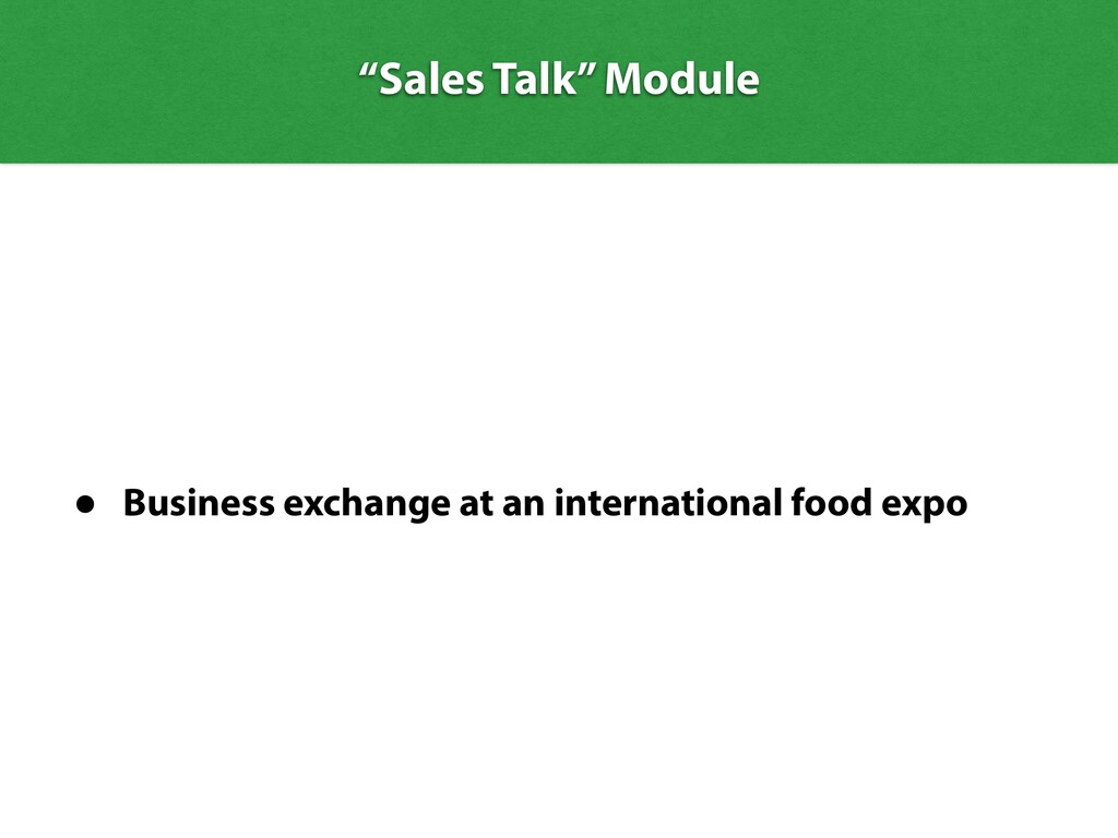 • Business exchange at an international food ex...