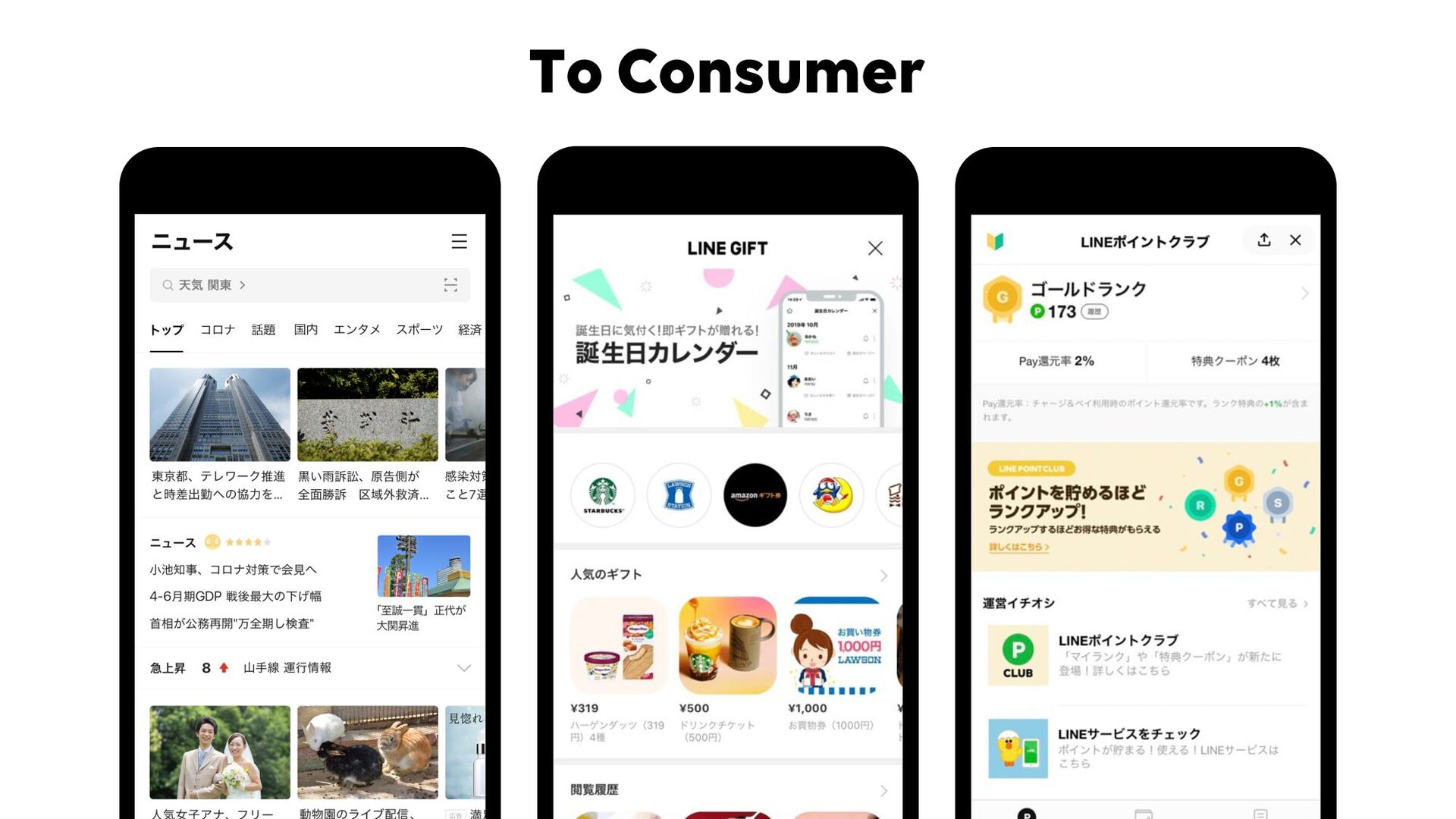 To Consumer © LINE 10