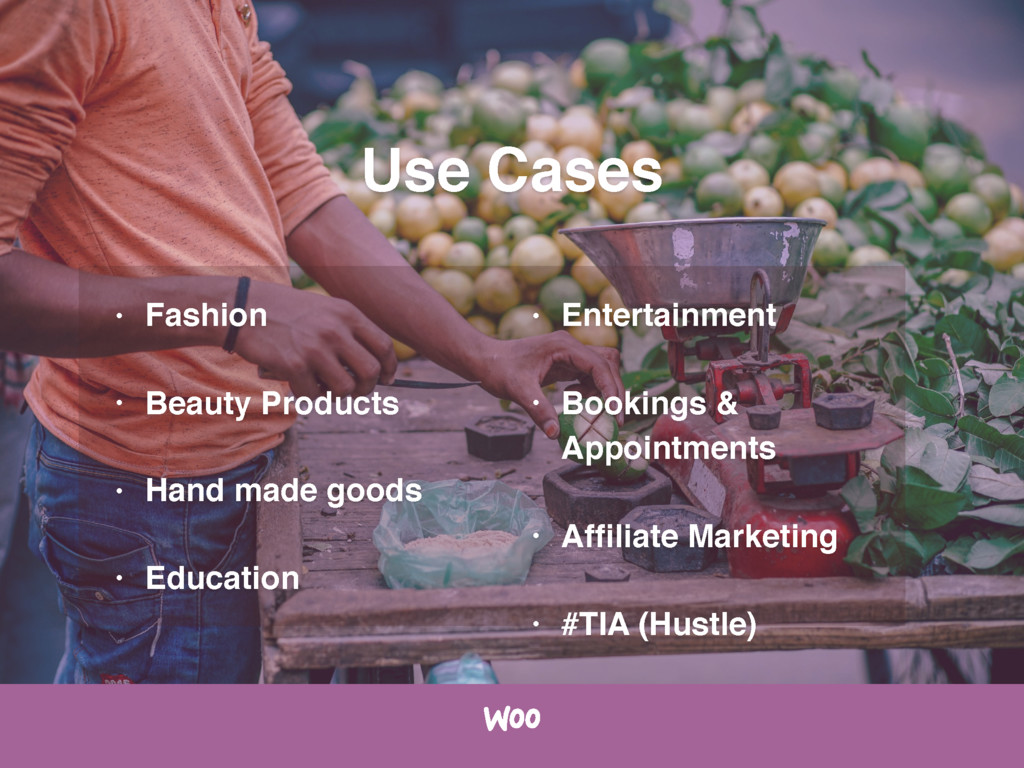 Use Cases • Fashion • Beauty Products • Hand ma...