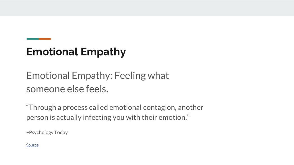 Emotional Empathy Emotional Empathy: Feeling wh...