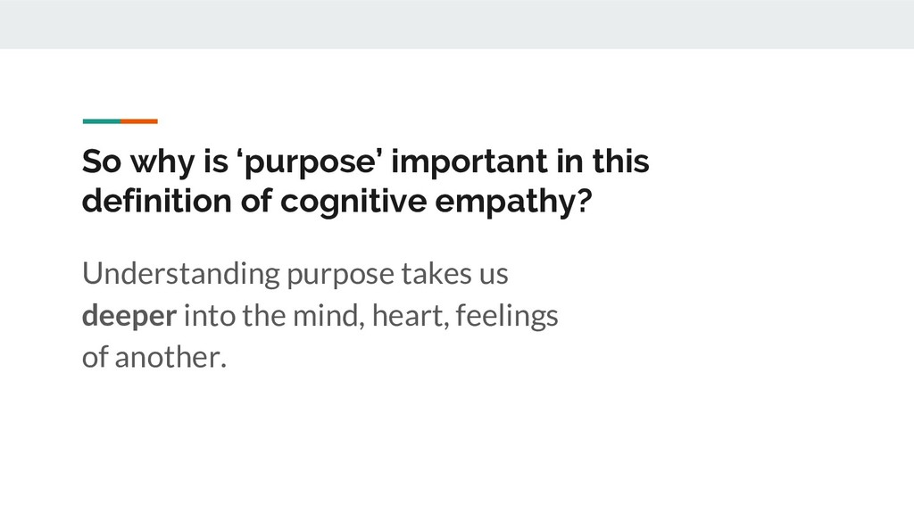 So why is 'purpose' important in this definitio...