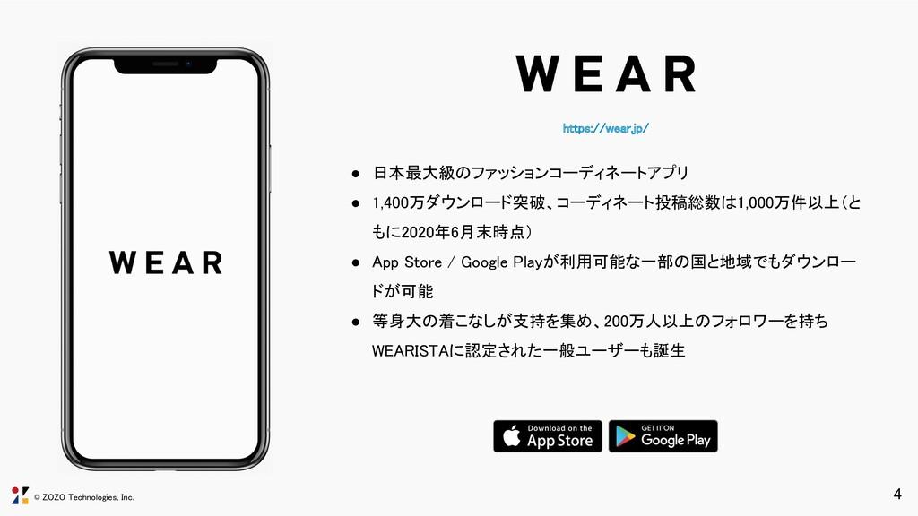 © ZOZO Technologies, Inc. https://wear.jp/ ● 日...