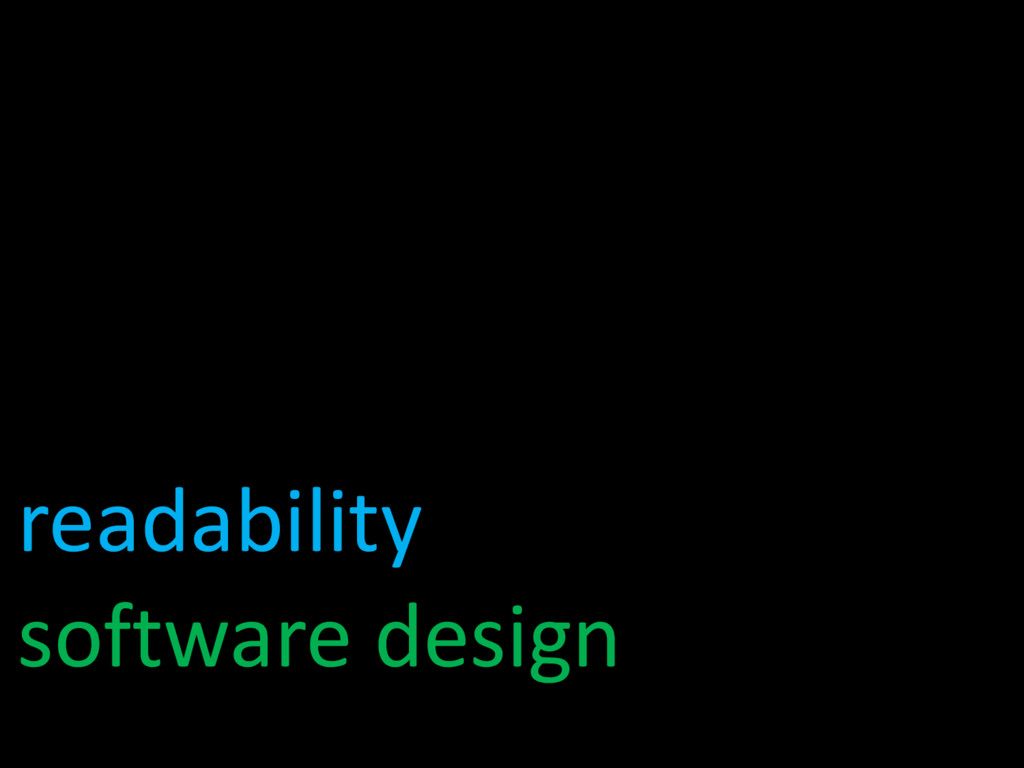 readability software design