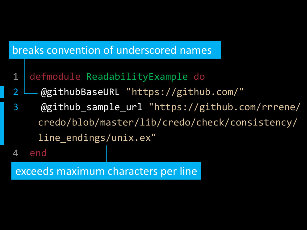 1 defmodule ReadabilityExample do 2 @githubBase...