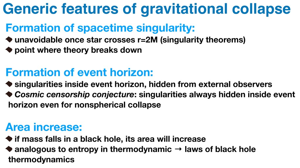 Generic features of gravitational collapse Form...