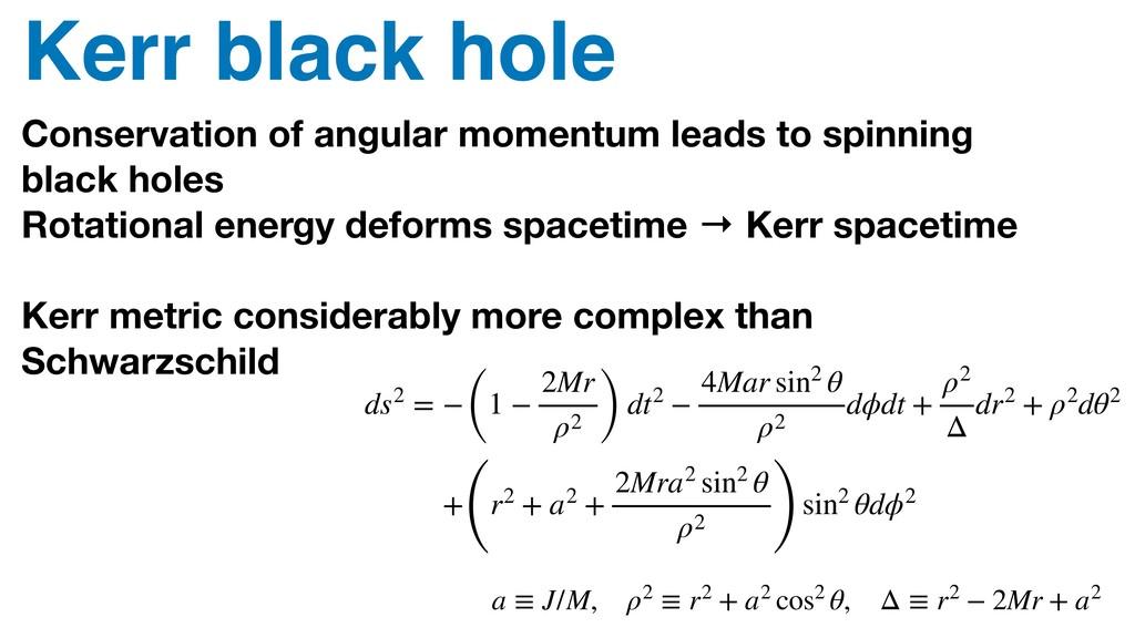 Kerr black hole Conservation of angular momentu...