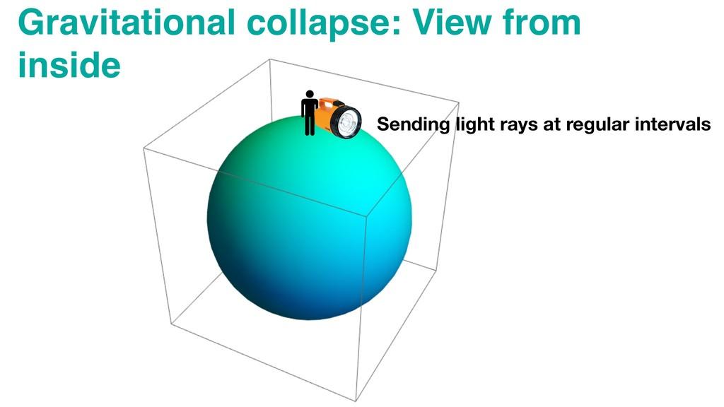 Gravitational collapse: View from inside Sendin...