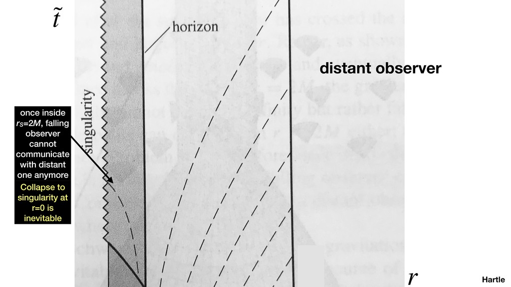 Hartle ˜ t r distant observer once inside rS=2M...