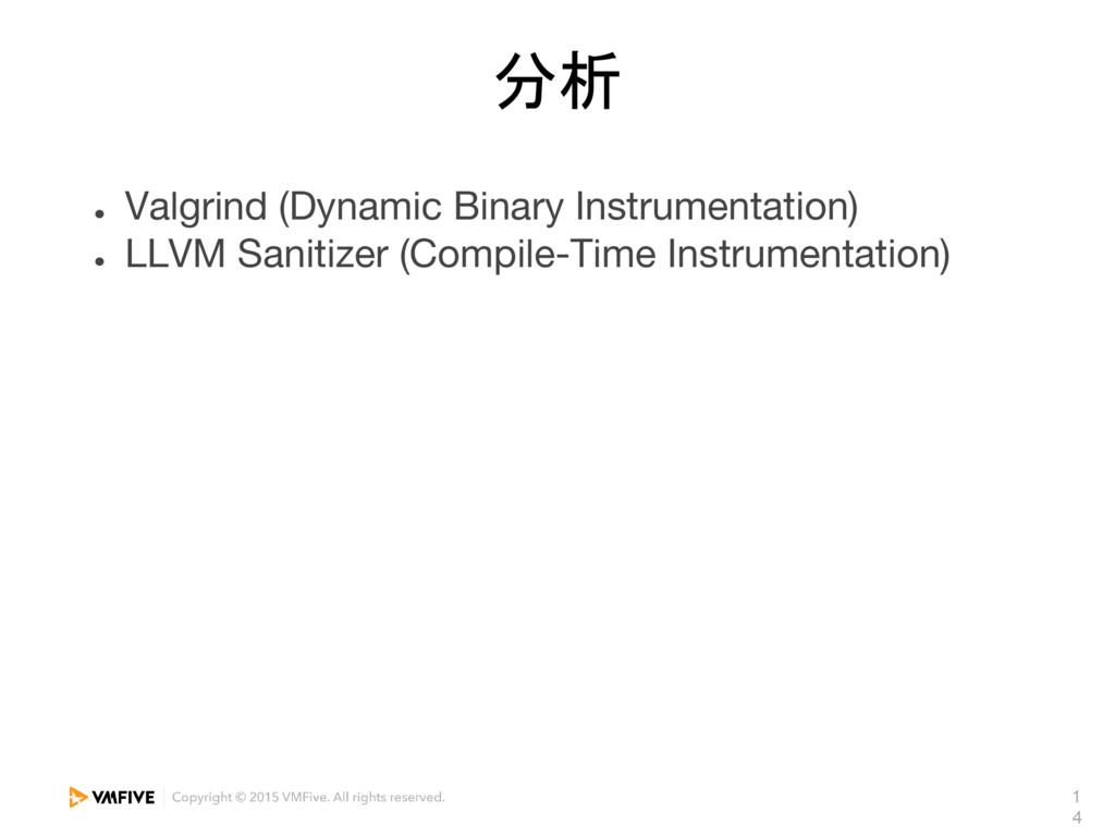1 4 分析 ● Valgrind (Dynamic Binary Instrumentati...