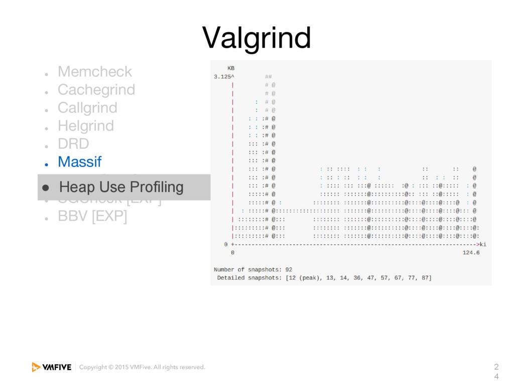 2 4 Valgrind ● Memcheck ● Cachegrind ● Callgrin...