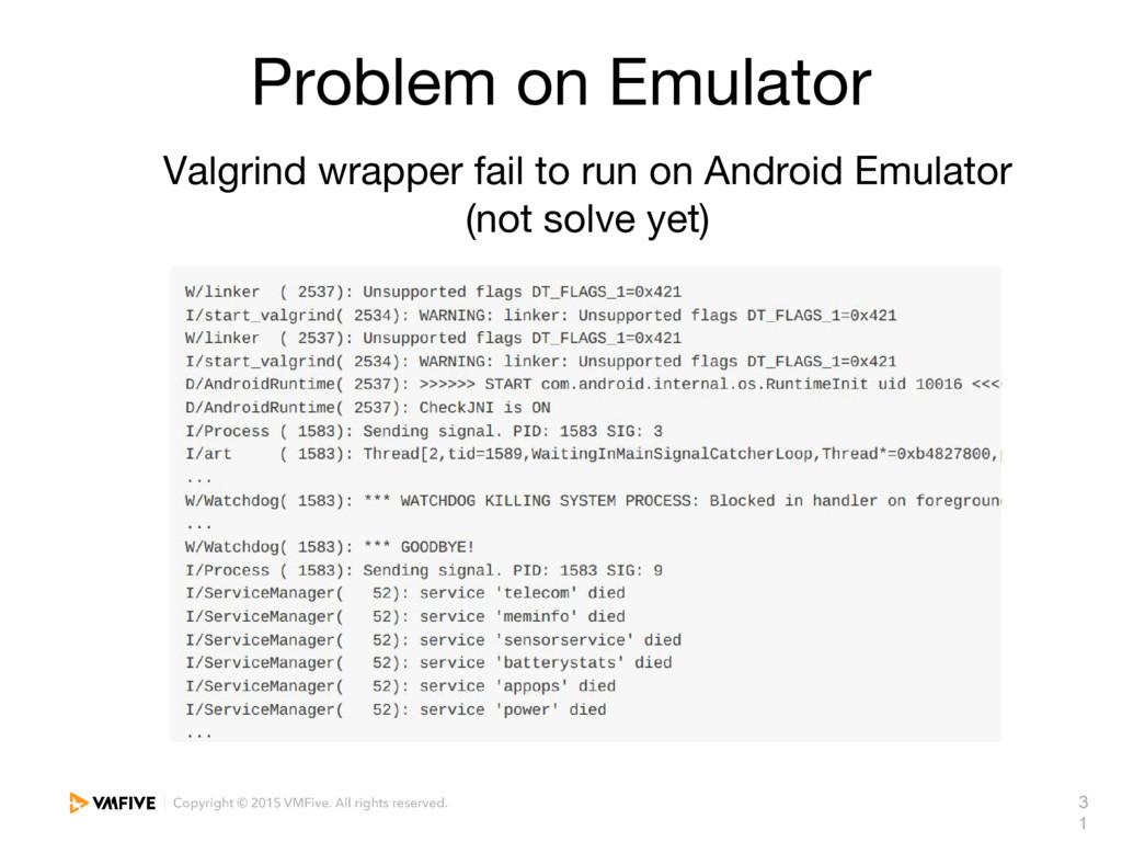 3 1 Problem on Emulator Valgrind wrapper fail t...