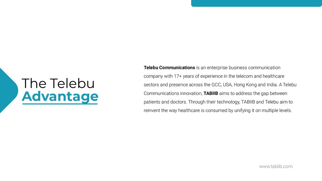 www.tabiib.com The Telebu Advantage Telebu Comm...