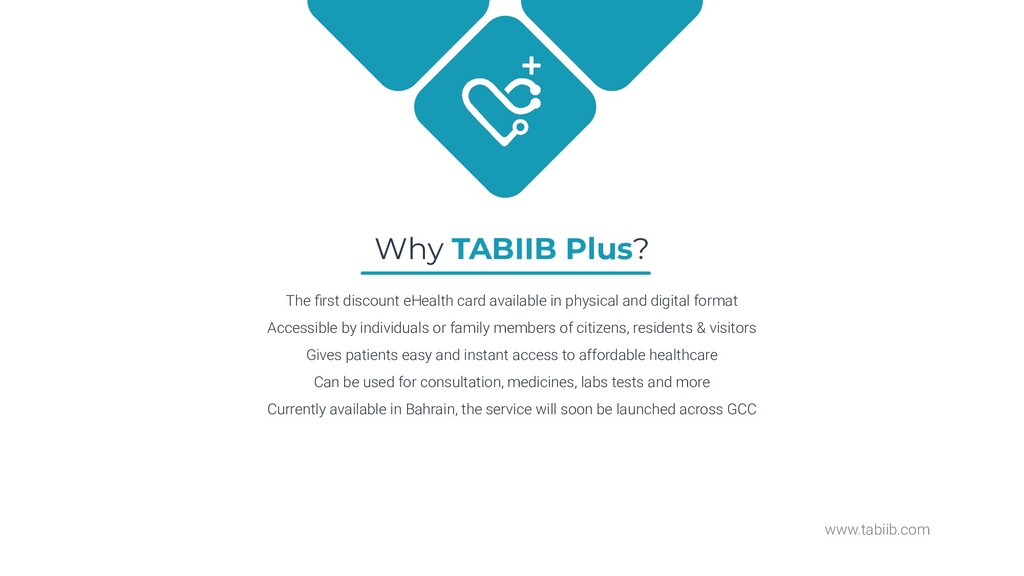 www.tabiib.com Why TABIIB Plus? The first discou...