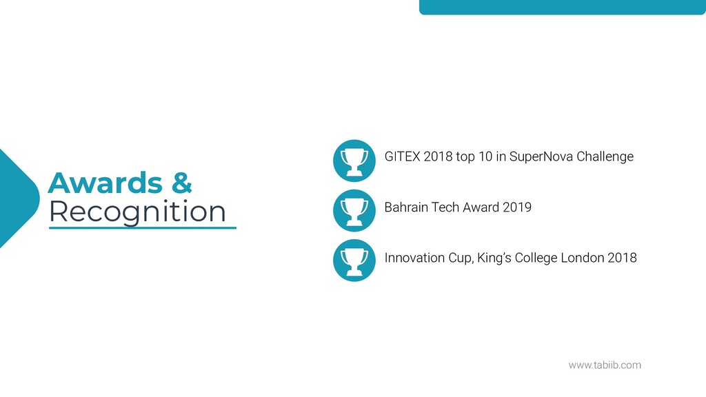 www.tabiib.com Awards & Recognition GITEX 2018 ...