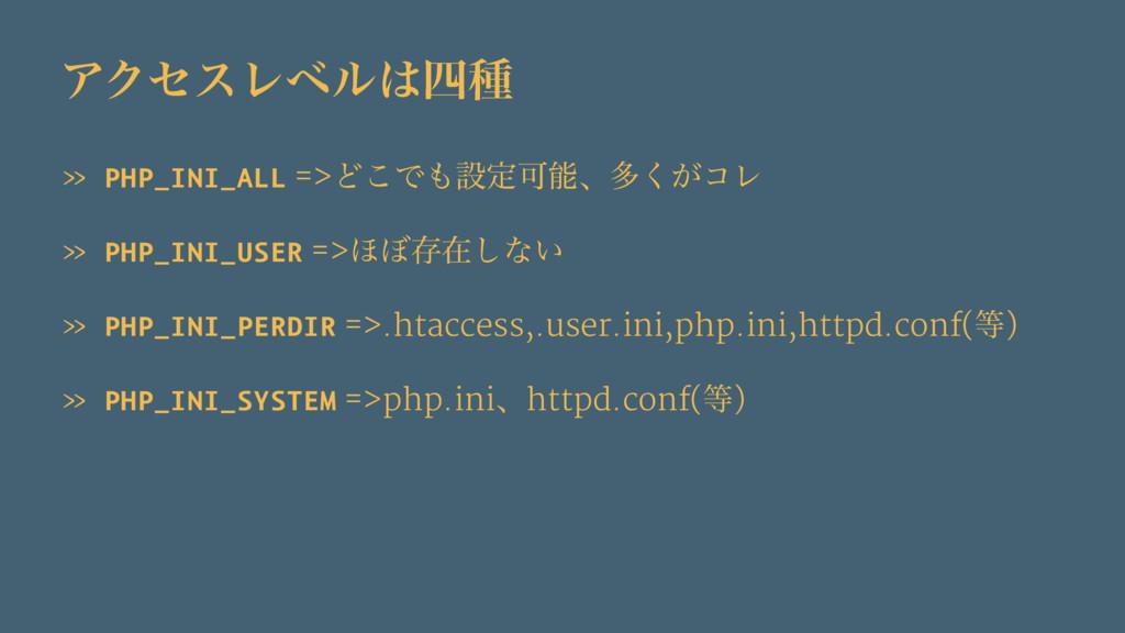 ΞΫηεϨϕϧछ » PHP_INI_ALL =>Ͳ͜ͰઃఆՄɺଟ͕͘ίϨ » PHP...