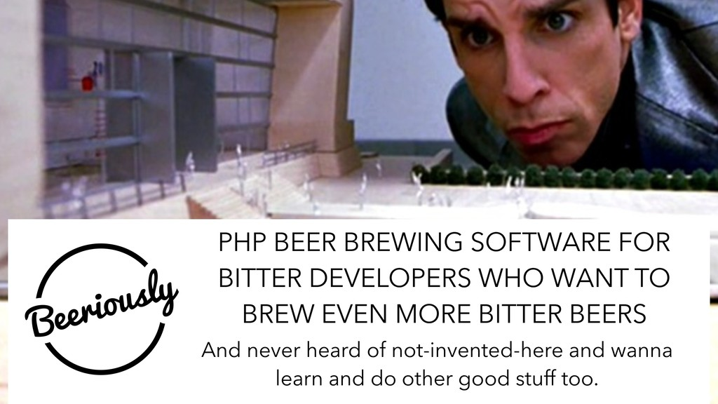 PHP BEER BREWING SOFTWARE FOR BITTER DEVELOPERS...