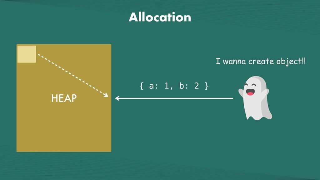 Allocation HEAP { a: 1, b: 2 } I wanna create o...