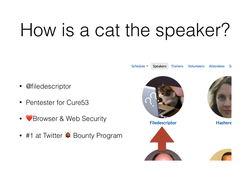 How is a cat the speaker? • @filedescriptor • Pe...