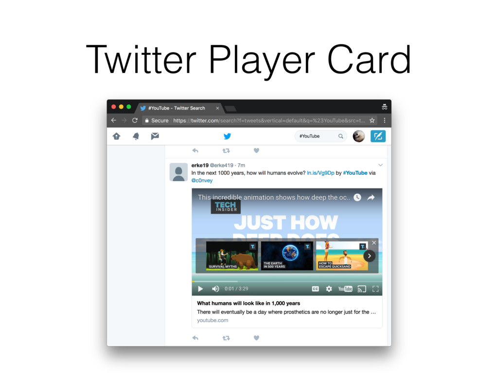 Twitter Player Card