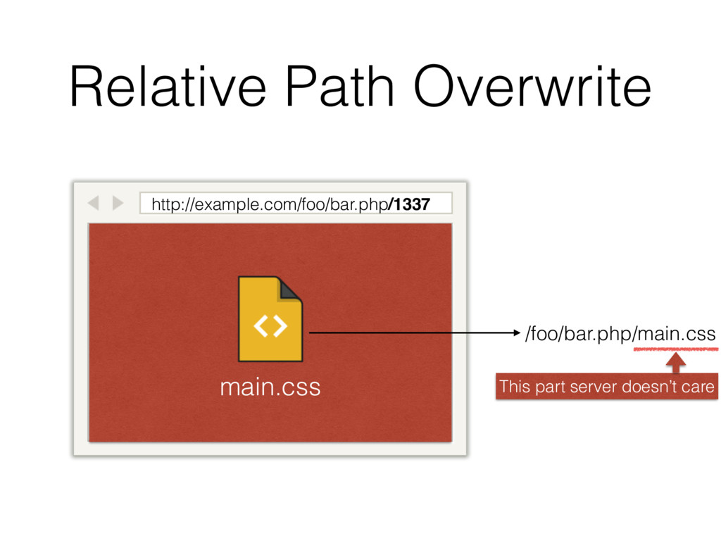 Relative Path Overwrite http://example.com/foo/...