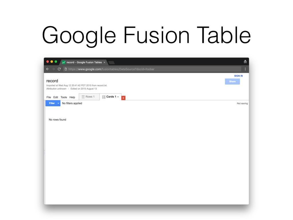 Google Fusion Table