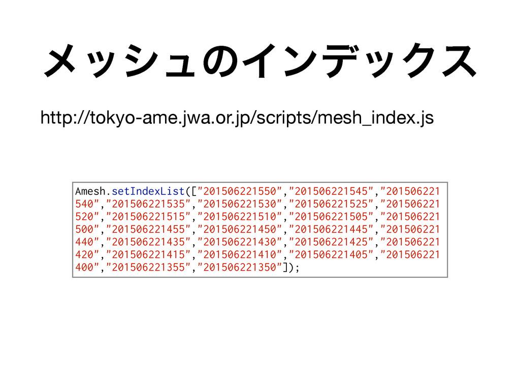 ϝογϡͷΠϯσοΫε http://tokyo-ame.jwa.or.jp/scripts/...