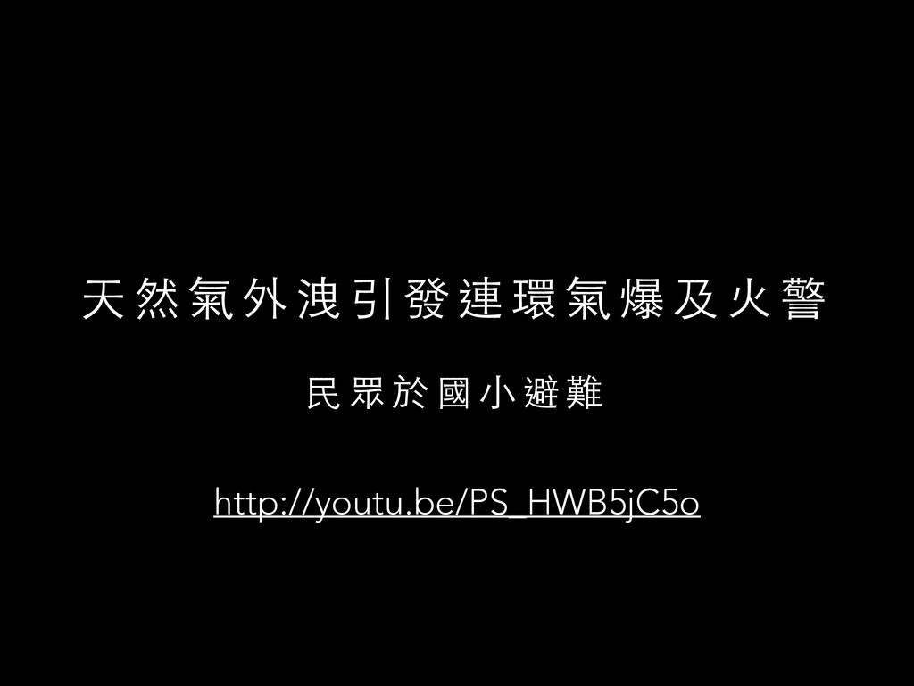 天 然 氣 外 洩 引 發 連 環 氣 爆 及 ⽕火 警 ⺠民 眾 於 國 ⼩小 避 難 ht...