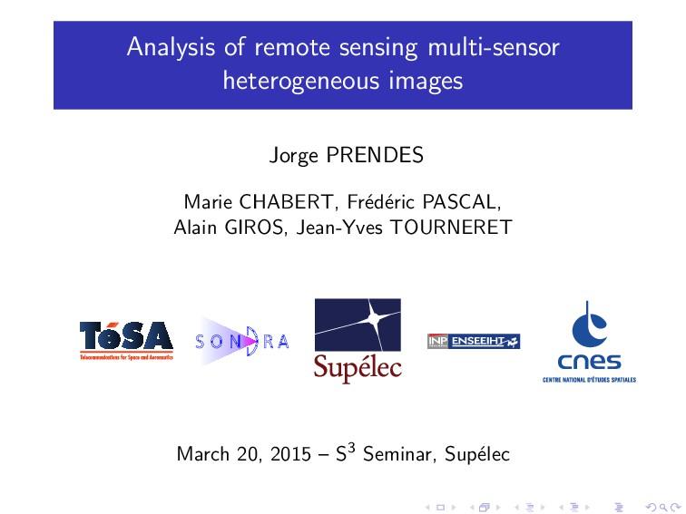 Analysis of remote sensing multi-sensor heterog...