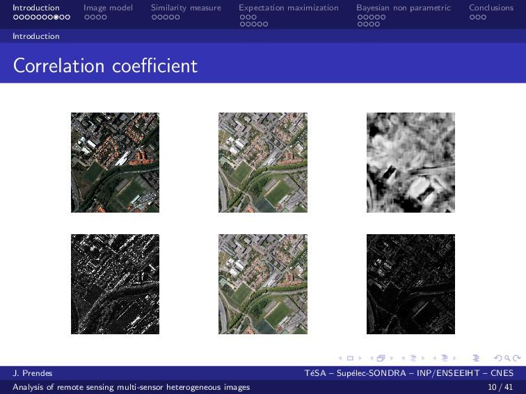 Introduction Image model Similarity measure Exp...