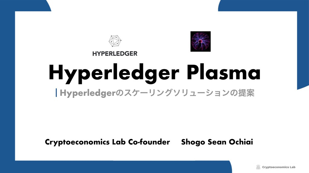 Hyperledger Plasma Cryptoeconomics Lab Co-found...