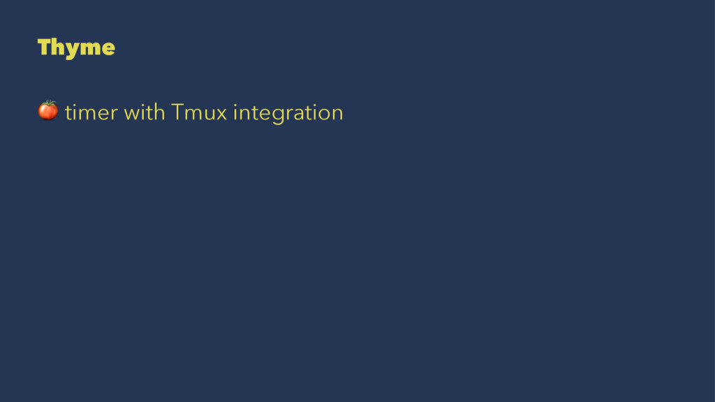 Thyme ! timer with Tmux integration