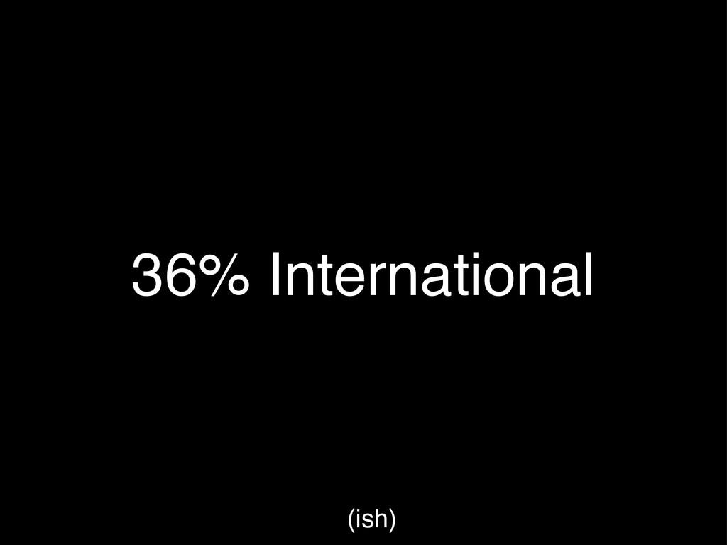 36% International (ish)