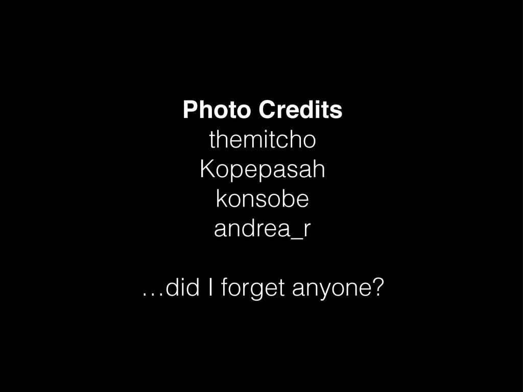 Photo Credits themitcho Kopepasah konsobe andre...