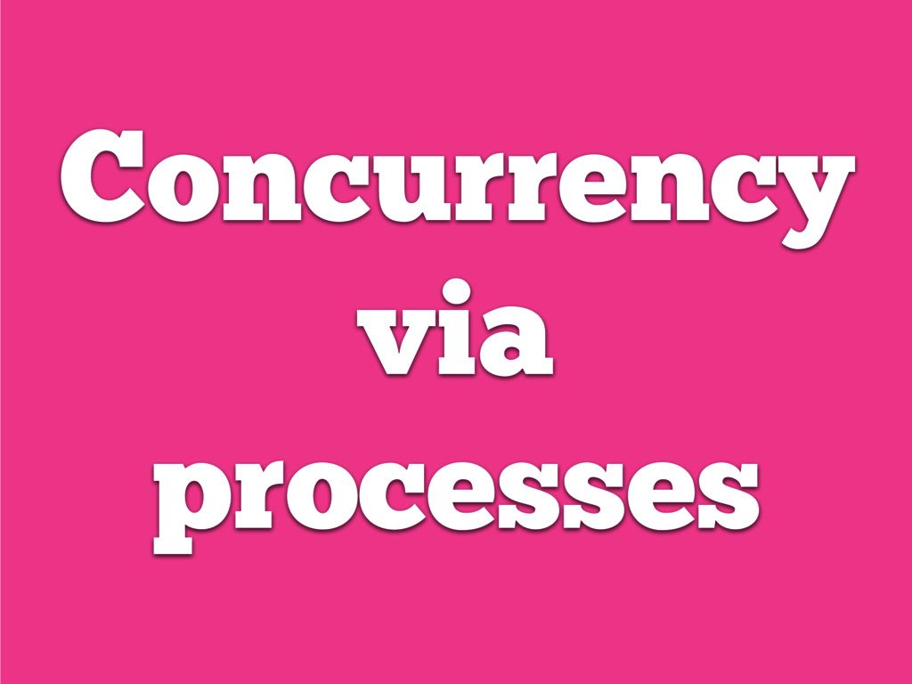 Concurrency via processes