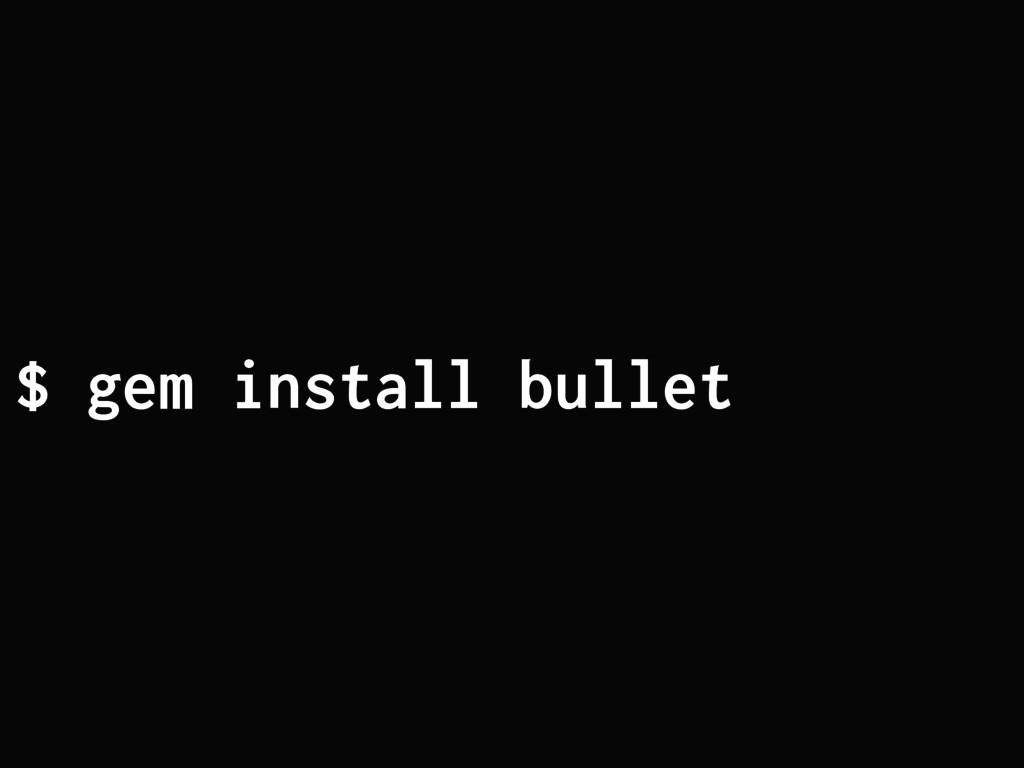 $ gem install bullet