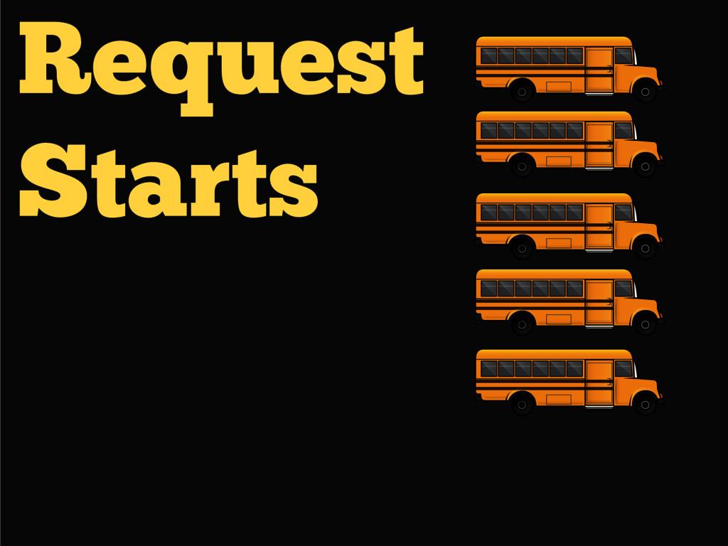 Request Starts