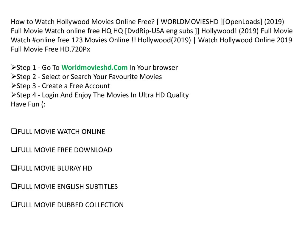 How to Watch Hollywood Movies Online Free? [ WO...