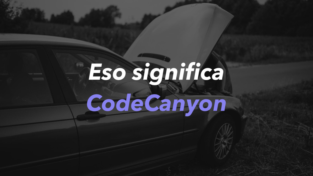 Eso significa CodeCanyon