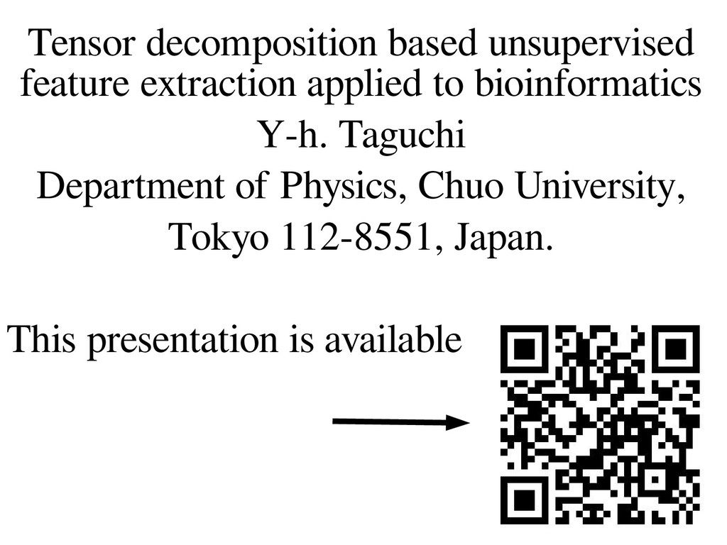 1 Tensor decomposition based unsupervised featu...