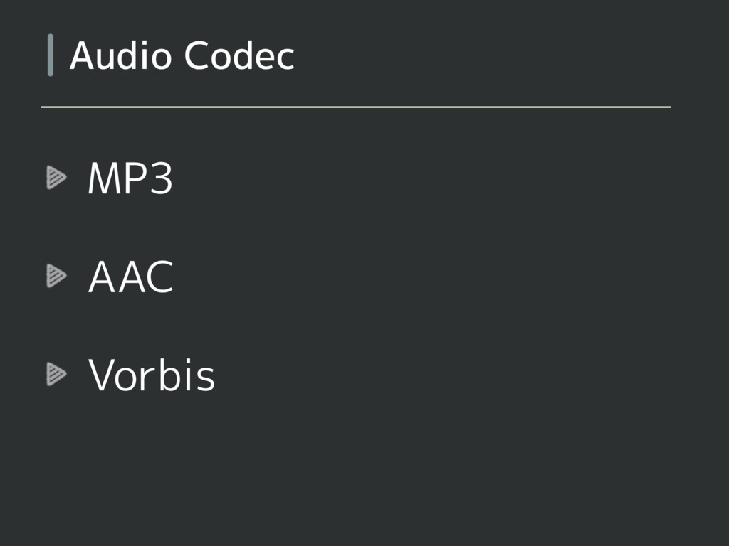 MP3 AAC Vorbis Audio Codec