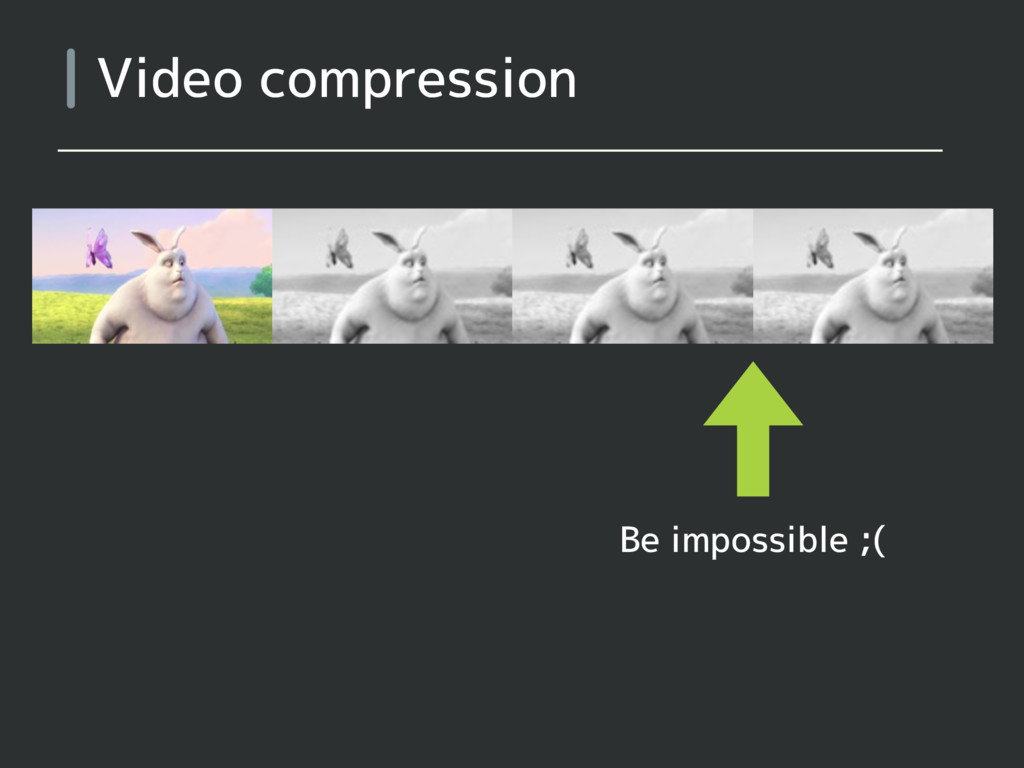 Video compression Be impossible ;(