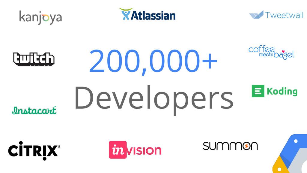 200,000+ Developers