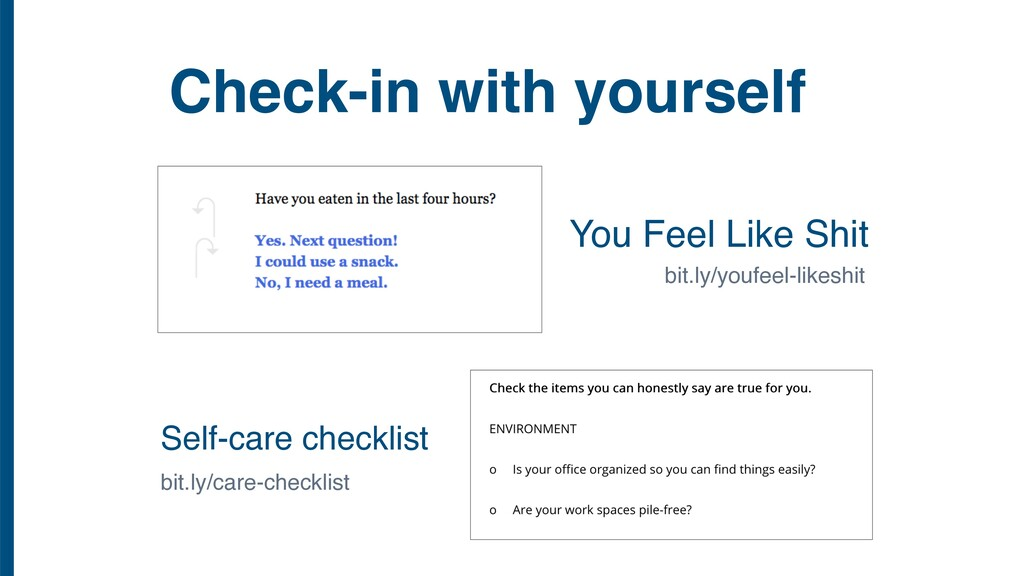 Check-in with yourself Self-care checklist You ...