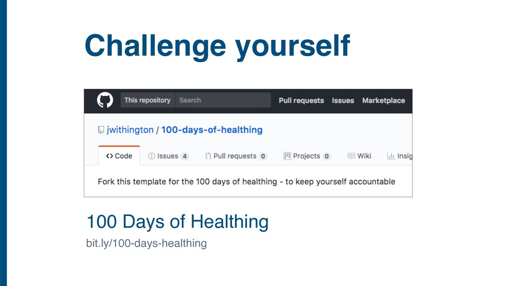 Challenge yourself 100 Days of Healthing bit.ly...