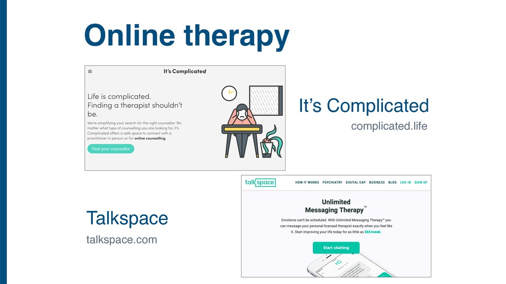 Online therapy Talkspace It's Complicated compl...