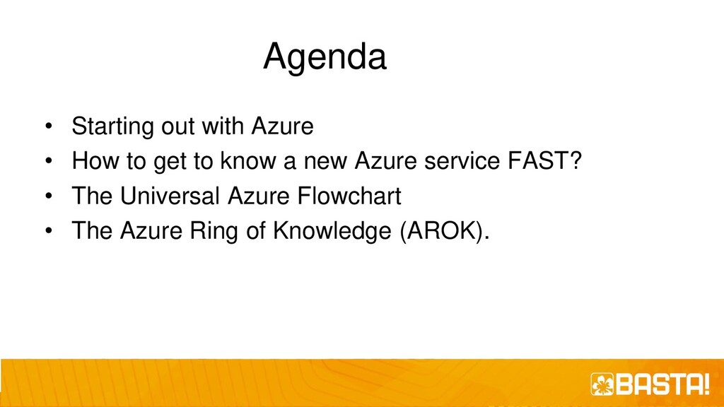 Agenda • Starting out with Azure • How to get t...