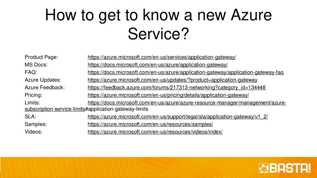 How to get to know a new Azure Service? Product...