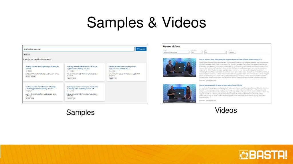 Samples & Videos Samples Videos